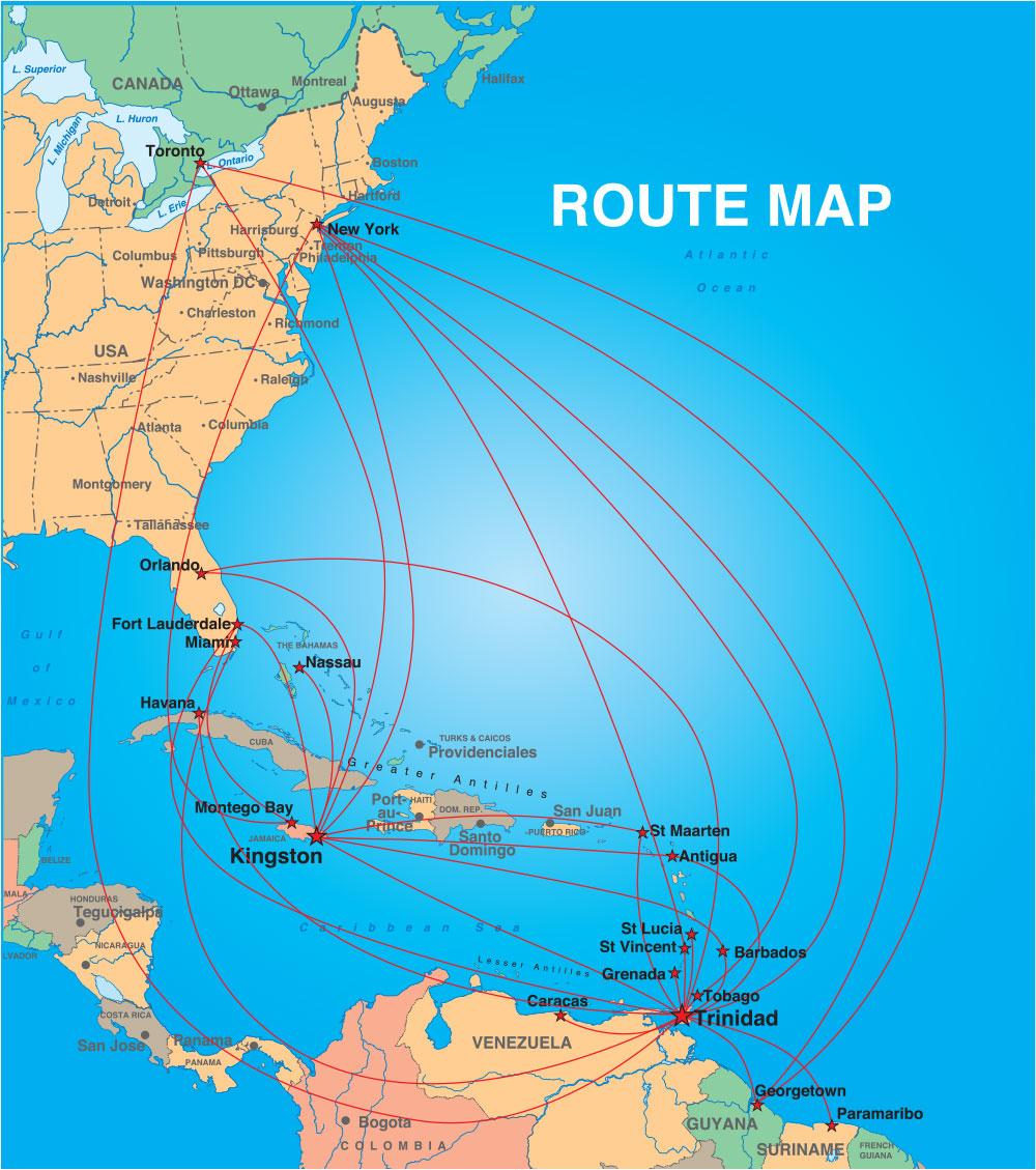 Caribbean Airlines on vietnam airlines route map, national airlines route map, syrian airlines route map, canadian rail route map, japan airlines route map, philippine airlines route map, united airlines route map, korean airlines route map, skymark airlines route map, american airlines route map, western airlines route map, singapore airlines route map, jackson airlines route map, solomon airlines route map, canadian airlines flights, skywest airlines route map, shanghai airlines route map, lan chile airlines route map, china airlines route map, hawaiian airlines route map,